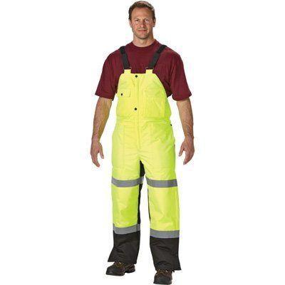 WaterShed 650AE011-LM-1XL StormCreek Polyurethane Coated Nylon Waterproof Rainwear Bib Overall with Elastic Suspenders, Extra Large, Lime Green:Amazon:Industrial & Scientific
