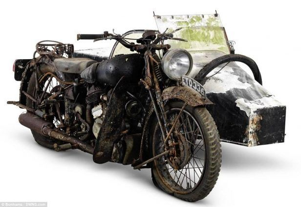 A Collection Of The Motorbikes Made Famous By Lawrence Arabia Has Been Discovered In Barn Where They Had Gathering Dust Village Nea