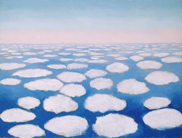 Above the Clouds I, Georgia O'Keeffe, 1962/63. The Georgia O'Keeffe Museum. Gift of The Burnett Foundation and The Georgia O'Keeffe Foundation. © Georgia O'Keeffe Museum