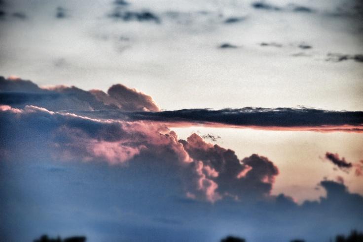 Sunset's clouds at Castello di Monterone. Perugia, #Umbria