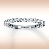 14K White Gold 3/4 Carat t.w. Diamond Ring for Her: Marriage Bands, Bands Ideas, Wedding Bands, The Bands