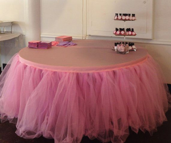 custom tulle tutu table skirt wedding birthday by baileyhadaparty 6700 good idea but inn