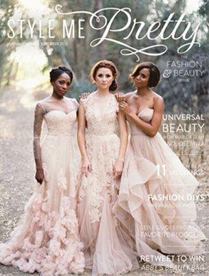Style me pretty magazine cover