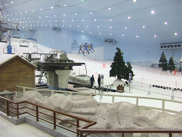 Yes! An indoor ski resort (in Dubai)! More at: http://www.skidubai.com/ski-dubai/photos/#