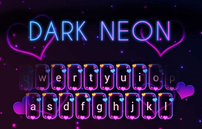 Dark Neon Theme: A theme fit for the darkest angels! You'll go nutty over these neon purple hues and never go back to the plain look again! #android #theme #design #wallpaper #keyboard #technology #gadgets #design #redrawkeyboard #dark #neon #purple #neon