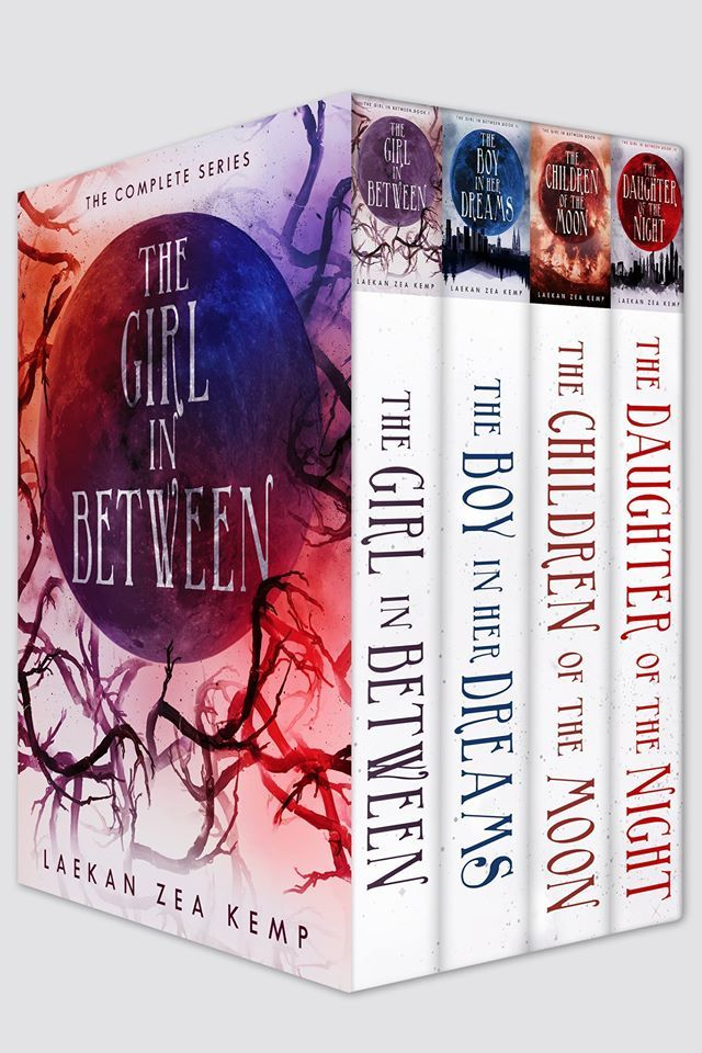 "YA paranormal box set of ""The Girl In Between"" series (author, Laekan Zea Kemp) designed by Najla Qamber Designs."