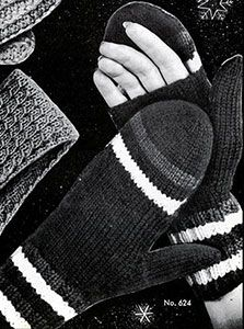 Link to download the FREE  knitting pattern for Women's Open Palm Mittens knit pattern published in Gloves and Mittens, Bernhard Ulmann #29.