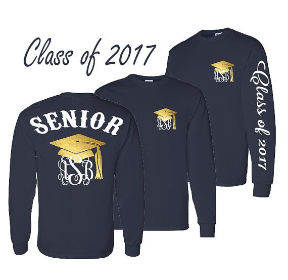 1 Senior Shirt Graduation Long Sleeve Shirt Preppy Tie Grad