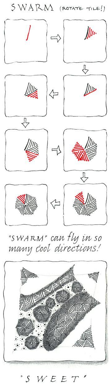 Swarm. Official Zentangle.