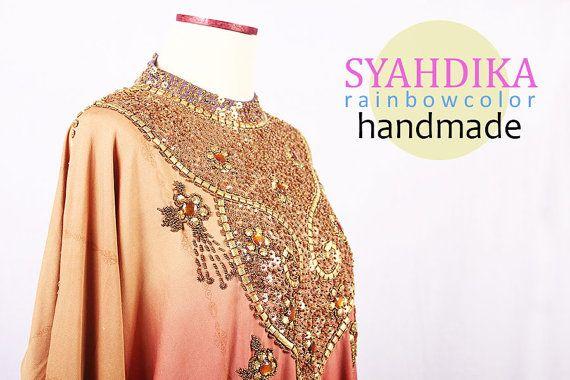 Spandex Rainbow Color Elastic Full Sequin Beads Gold by syahdika
