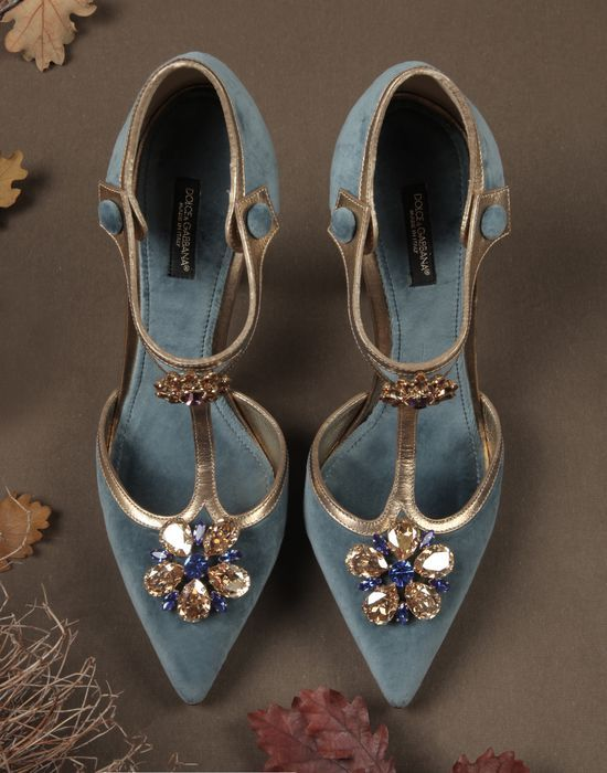 SUEDE BELLUCCI PUMPS - Closed-toe slip-ons - Dolce&Gabbana - Winter 2015