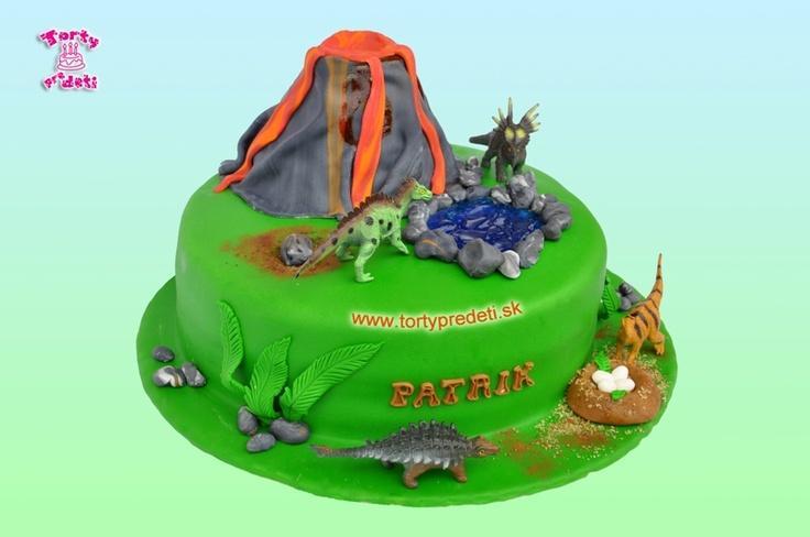 Torta Jurský park.   Torty pre deti Žilina - detské, marcipánové, 3D, a iné torty na objednávku