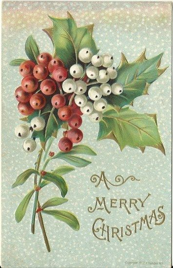 Antique Postcard A Merry Christmas by postcardsintheattic on Etsy, $6.95 @Postcards In The Attic