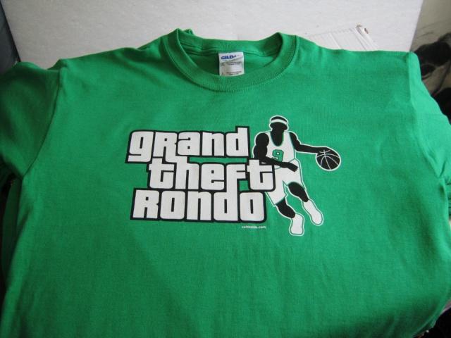 I want one!  Grand Theft Rondo T-Shirts | CelticsLife.com