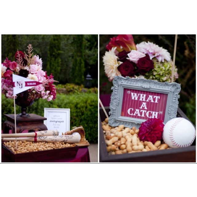 love this idea for baseball wedding