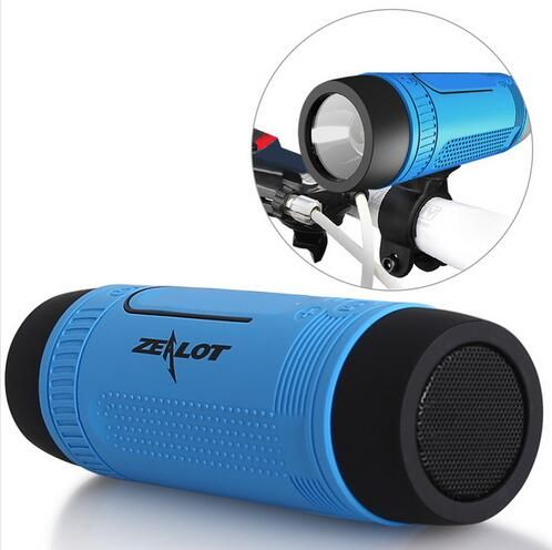 Zealot S1 Bluetooth Speaker Portable Subwoofer Power Bank Rechargeable with LED light for Outdoor Sport+Bicycle Mounting Bracket //Price: $US $16.99 & FREE Shipping //     #ipad