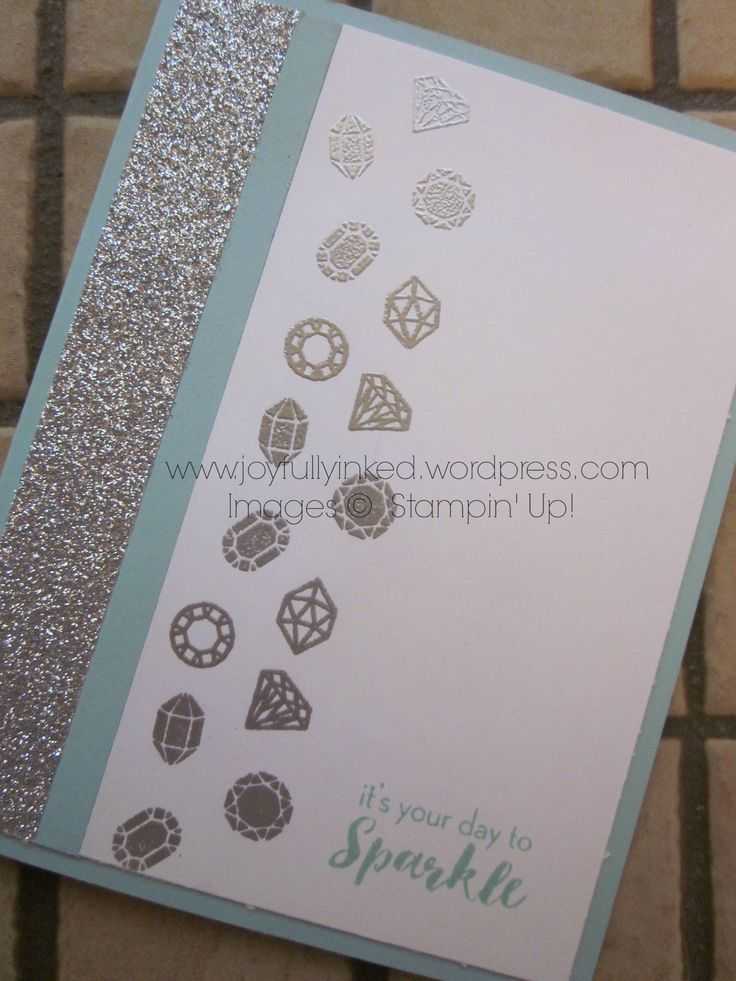 """""""What a Gem"""" Paper Pumpkin kit bonus card. For a complete supply list check out my blog. All supplies Stampin' Up! Thanks for taking a look! https://joyfullyinked.wordpress.com/2016/08/15/what-a-gem-paper-pumpkin-kit-bonus-card/"""