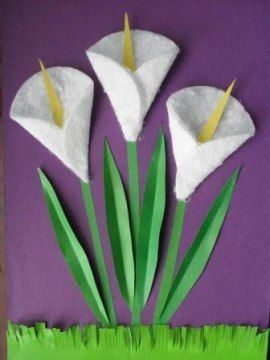 Pretty calla lily craft