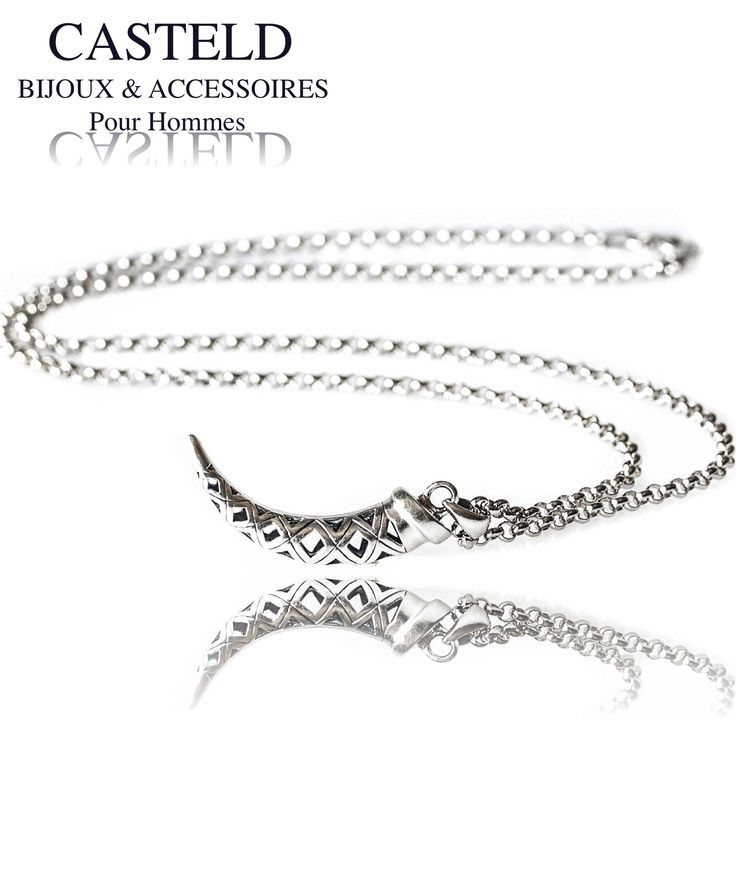 Un pendentif inspiré de la légendaire corne d'abondance avec un design très masculin pour