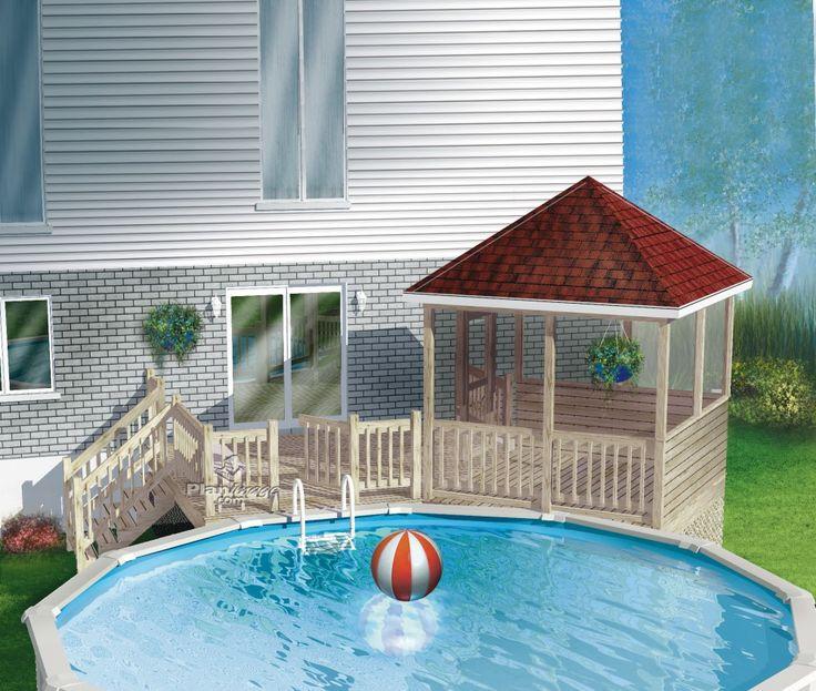 17 meilleures id es propos de terrasse sur lev e sur for Portillon piscine bois