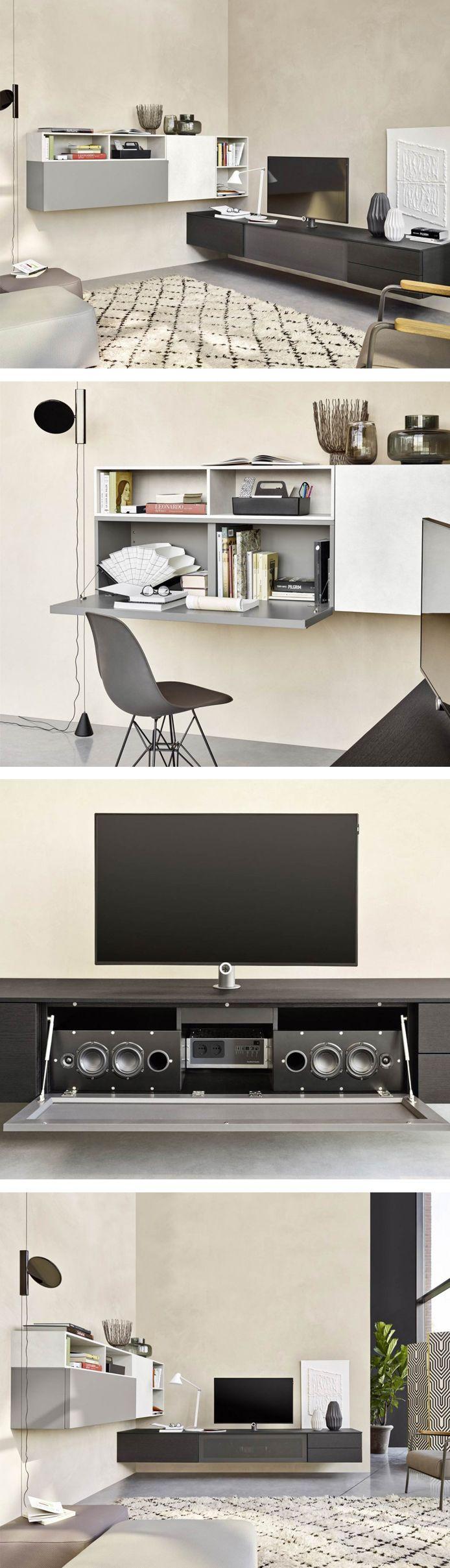 Die Design Audio Wohnwand C51 Hat Eine Integrierte TV Halterung. #Wohnwand # Wohnzimmer #
