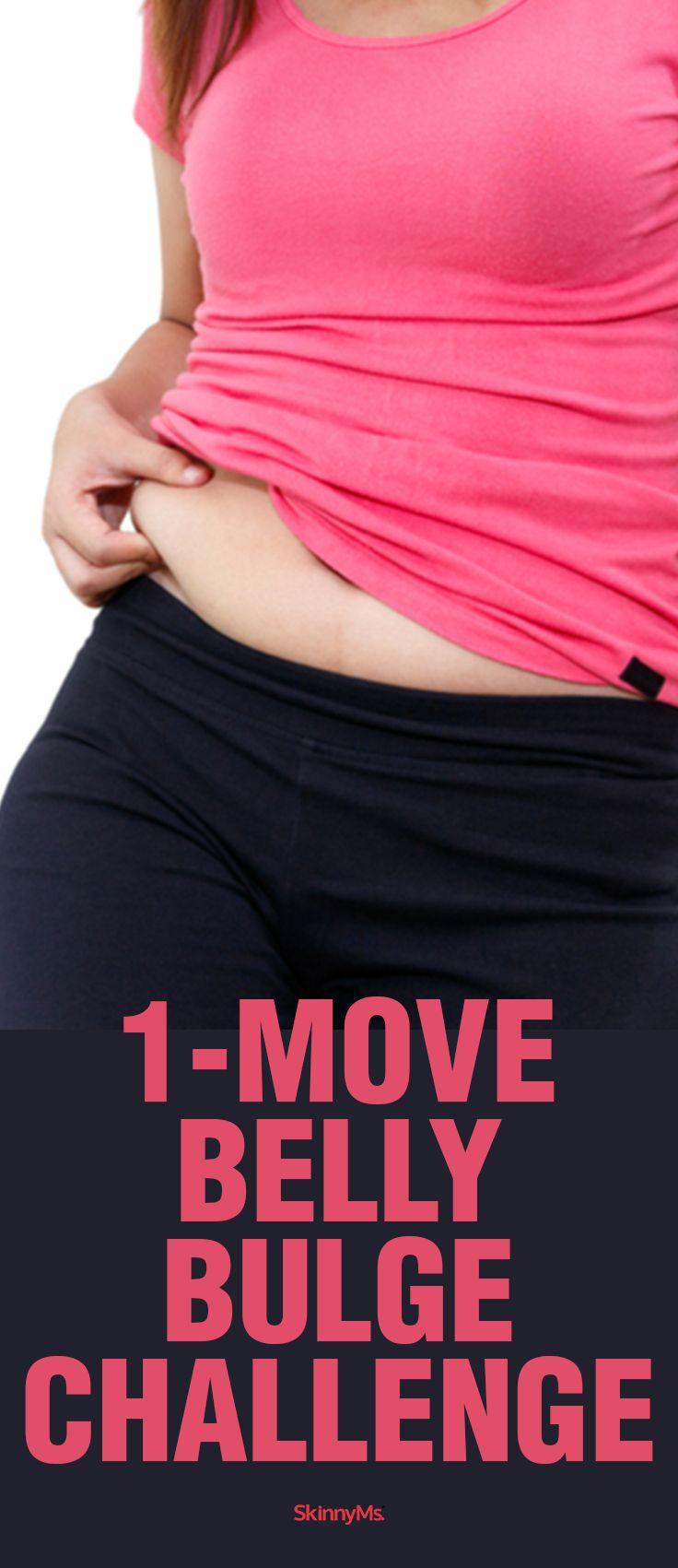 Our 1-Move Belly Bulge Challenge can help you cinch your middle and define your waist!