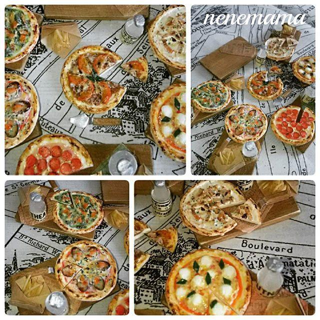 プレート、ナイフ、水、ポテト、ピザがセットになっています。 全て未接着ですので、お好きな様に並べて頂けます(^_^) ピザはマルゲリータ・ペパロニ・キノコとベーコン・ボロネーゼ・茄子とトマト・ジェノベーゼの六種類です♪ * ピザSHOPも今月中に出品予定でしたが間に合いそうにありません(^-^;) 完成までもう少し頑張ります!! * #ミニチュア #ミニチュアフード #フェイクスイーツ #フェイクフード #食品サンプル #ハンドメイド #粘土 #ドールハウス #カフェ #男前風 #ピザ #ピザ屋さん #マルゲリータ #ペパロニ #茄子とトマト #ボロネーゼ #ベーコンときのこ #ジェノベーゼ #バジル #チーズ #トマトソース # #ピザランチ #ランチ #miniature #miniaturefood #handmade #clay #dollhouse #pizza