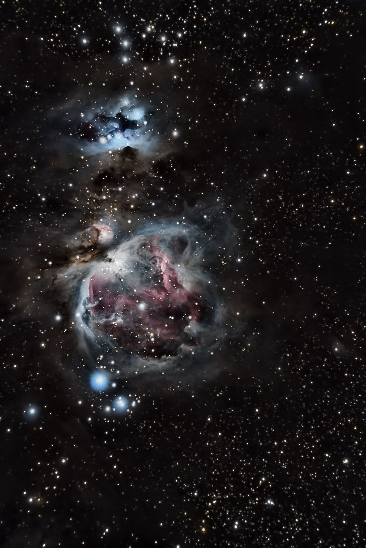 "Great Orion Nebula - M42 by Cassiano Carromeu - ""A diffuse nebula situated in the Milky Way, south of Orion's Belt in the constellation of Orion. It is one of the brightest nebulas, and is visible to the naked eye in the night sky."""