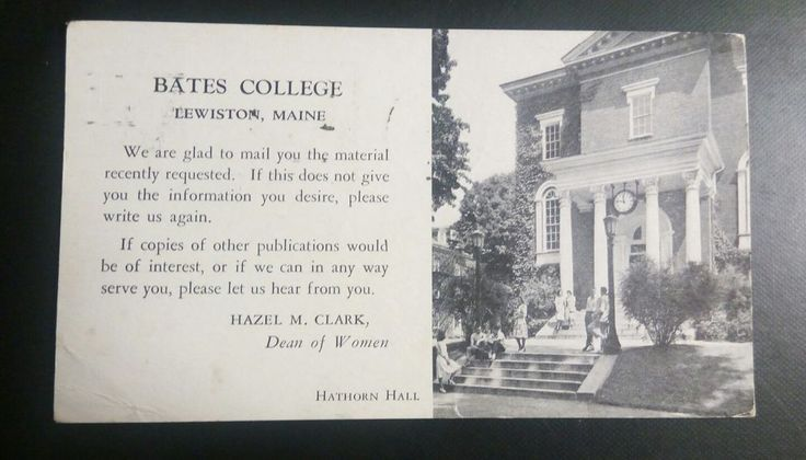 RARE Vintage Post Card Bates College 1953 Lewiston, MA.   Collectibles, Postcards, US States, Cities & Towns   eBay!