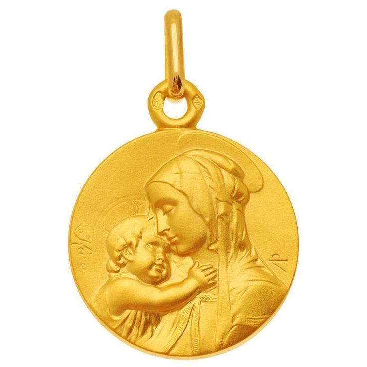 Medaille Vierge or jaune Mon Premier Bijou Médaille Vierge à l'enfant de Botticelli (or jaune 9ct) sur PremierCadeau.com
