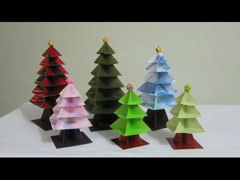 TUTORIAL - Origami Christmas Tree (Re-make) - YouTube
