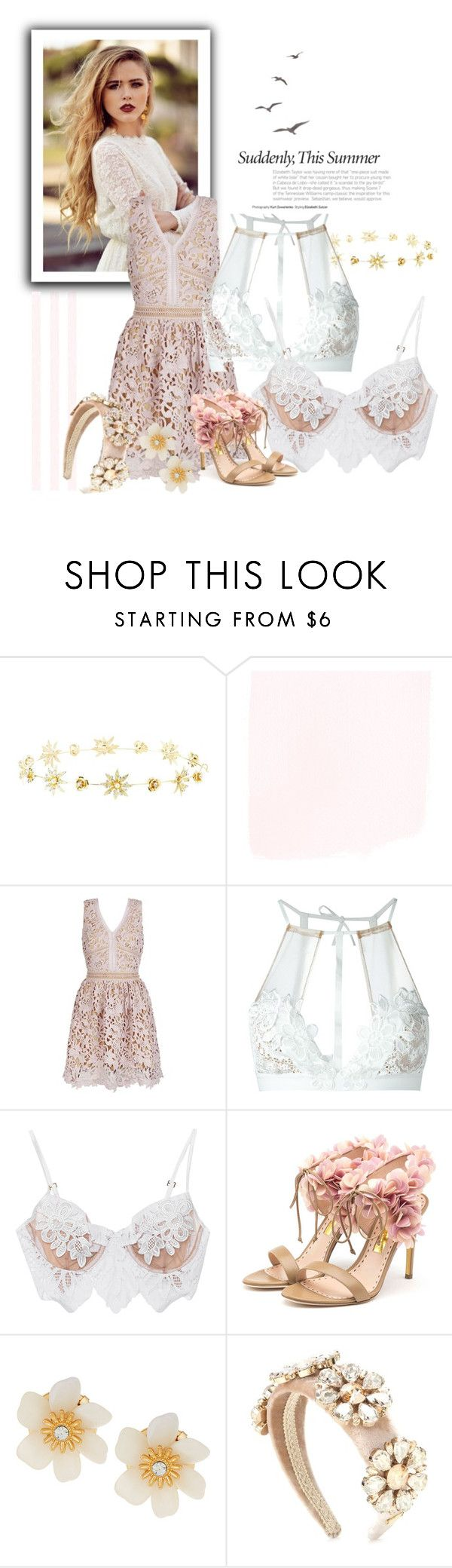 """""""rose lace chic"""" by anya2991 on Polyvore featuring moda, Charlotte Russe, For Love & Lemons, Rupert Sanderson, Lydell NYC e Dolce&Gabbana"""