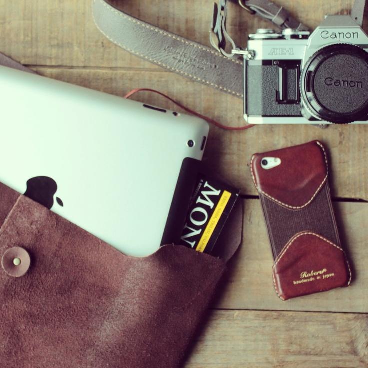 Roberu Leather Envelope iPhone case