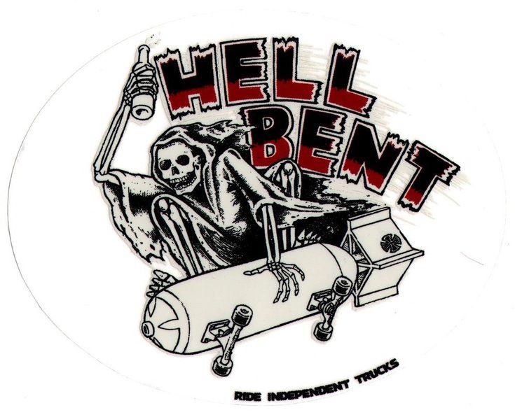 Independent Trucks - Hell Bent Skateboard Sticker - skate surf snow bmx guitar #Independent