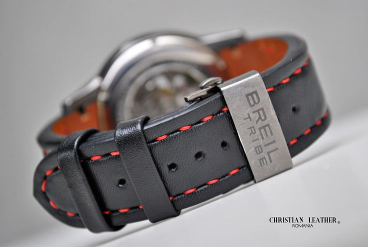 Breil Tribe - Handmade Leather Watch Strap Custom Size and Color by ChristianStraps on Etsy