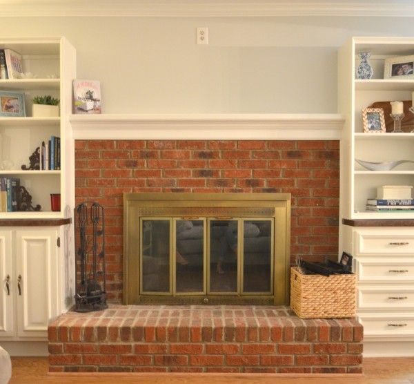 How To Remove Brick Fireplace Surround Woodworking Projects Plans