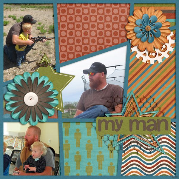 Kit ~ Stud Muffin by Little Rad Trio and B2N2 Template ~  ~ my {crazy} story templates