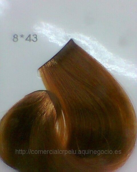 Tinte sin amoniaco Nº 8,43  YZAE RUBIO CLARO COBRIZO DORADO Eugene Perma 60 ml