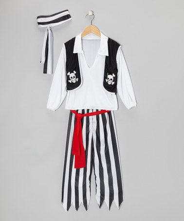 Take a look at this Black Pirate Dress-Up Set - Boys by RG Costumes on #zulily today!
