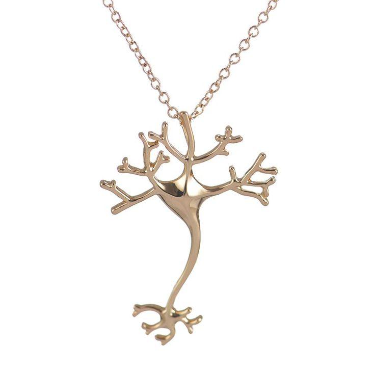 yiustar 2016 Fancy Long Chain Necklace Hippie Chic Neuron Brain Nerve Cell Necklace Colar Boho Neuron Collier Femme XL197