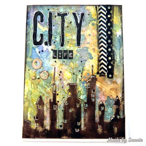 Made by Sannie: Rainbow City Life card video tutorial