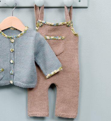 Modèle salopette Liberty avec poche - Modèles tricot layette - Phildar