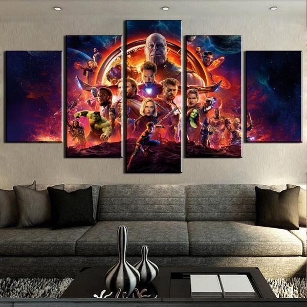 Marvel Avengers Infinity War 5 Panel Canvas Print Wall Art