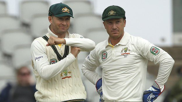 Michael Clarke & Brad Haddin #australia #cricket #ashes 2013 Love these boys!!! <3