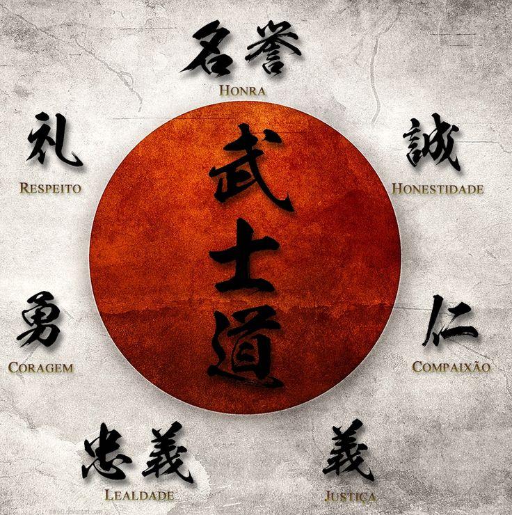 """O Bushido (武士道) ou """"Caminho do Guerreiro"""" é uma espécie de código de conduta que era levada muito a sério pelos samurais. Se trata de regras baseadas em princípios morais na qual o guerreiro samurai tinha o dever de segui-las a todo custo, não só no campo de batalha como também em sua vida diária."""