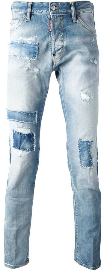 Light Blue Ripped Jeans by DSquared. Buy for $577 from farfetch.com