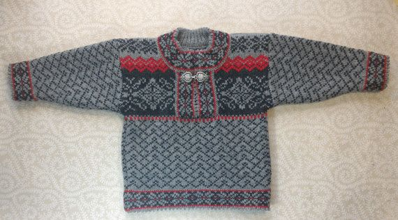SALE Trendy winter sweater for children with ornament by LanaNere