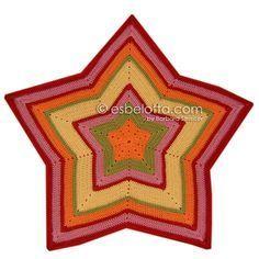 esbelotta: Anleitung für eine Sternendecke (Starghan) Toller Blog mit Anleitung…