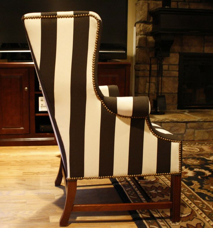1000 Ideas About Striped Chair On Pinterest Upholstery