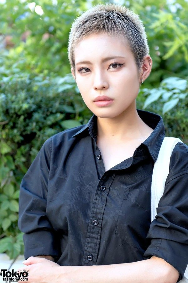 Shaved Japanese Hairstyle